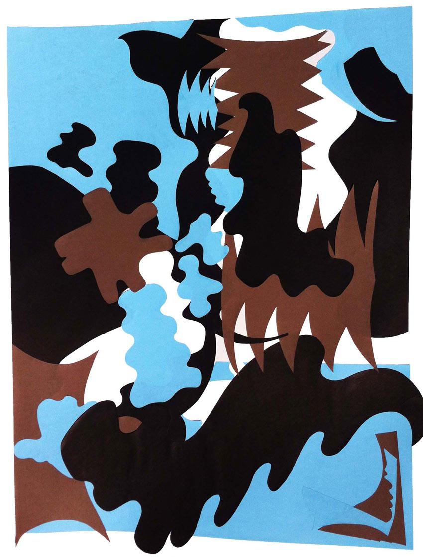 Conflict, 2012, Paper Cut, 24 W x 19 H in